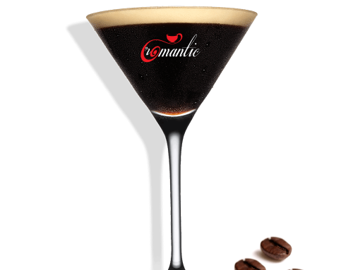 Romantic esspreso martini