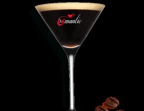 Romantic esspreso martini