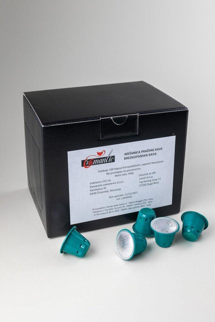 Kavne kapsule Romantic brezkofeinske kompatibile z nespresso aparati 2