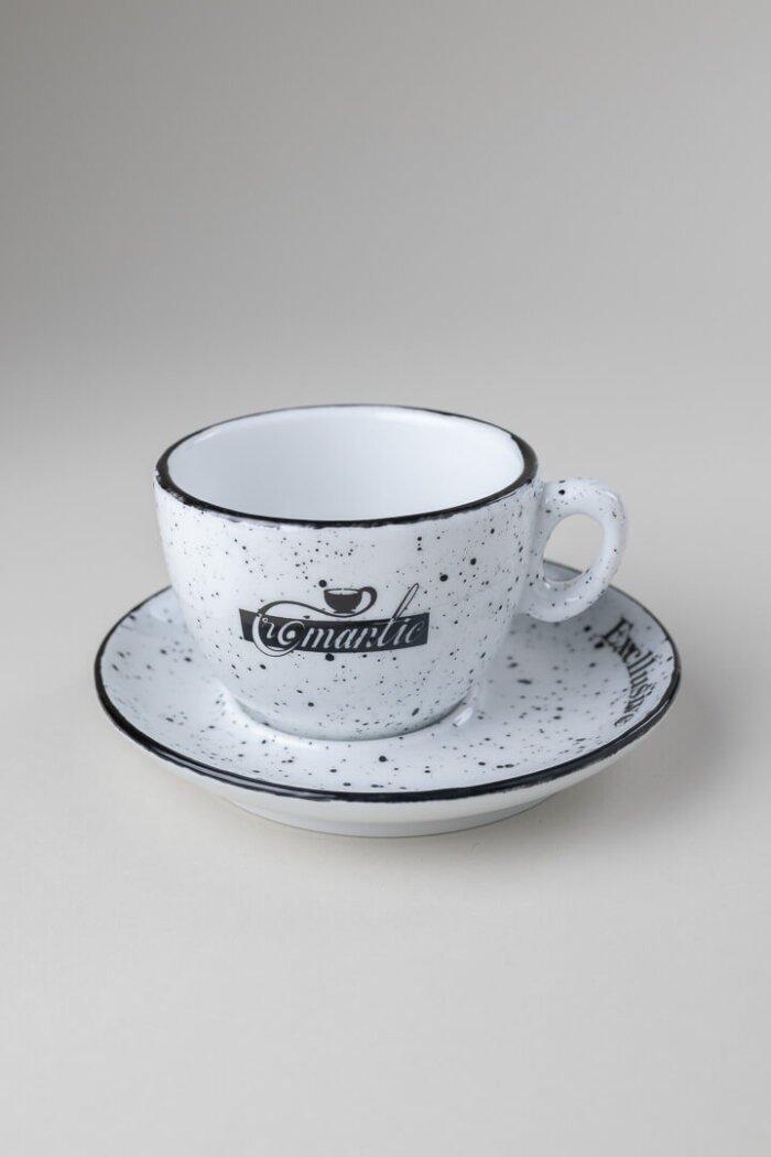 Skodelica Romantic excluzive kava z mlekom
